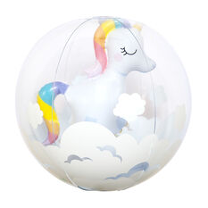 Sunnylife 3D Inflatable Beach Ball Unicorn, , rebel_hi-res