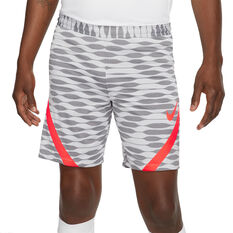 Nike Mens Dri-FIT Strike Football Shorts White S, White, rebel_hi-res