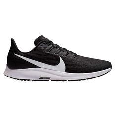Nike Air Zoom Pegasus 36 Mens Running Shoes Black / White US 7, Black / White, rebel_hi-res