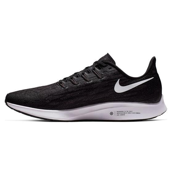 Nike Air Zoom Pegasus 36 Mens Running Shoes, Black / White, rebel_hi-res