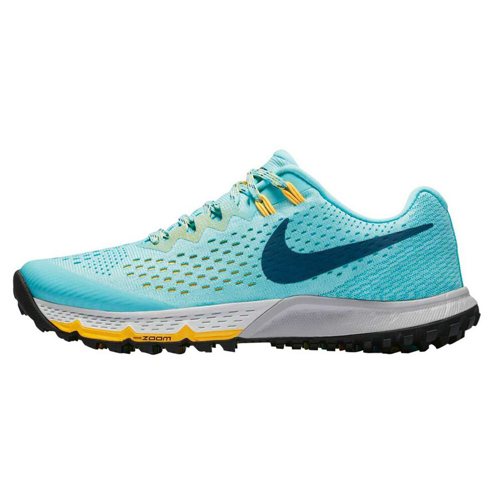 5e186f8b6dc51 Nike Air Zoom Terra Kiger 4 Womens Trail Running Shoes Green   Blue US 6.5