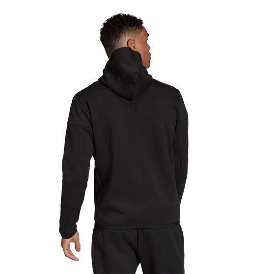 adidas Mens Z.N.E Full Zip Hoodie, Black, rebel_hi-res