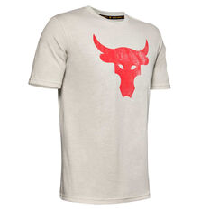 Under Armour Mens Brahma Bull Tee White XS, White, rebel_hi-res