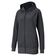 Puma Womens Studio Knit Jacket Grey XS, Grey, rebel_hi-res