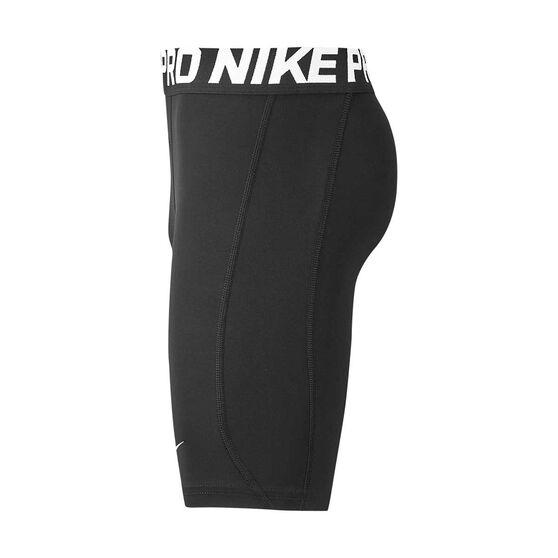 Nike Pro Boys Shorts Black / White XS, Black / White, rebel_hi-res