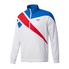 Reebok Mens Classics Vector Track Jacket White S, White, rebel_hi-res