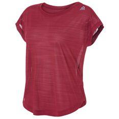 Reebok Womens Workout Ready ACTIVChill Tee Maroon XS Adult, Maroon, rebel_hi-res