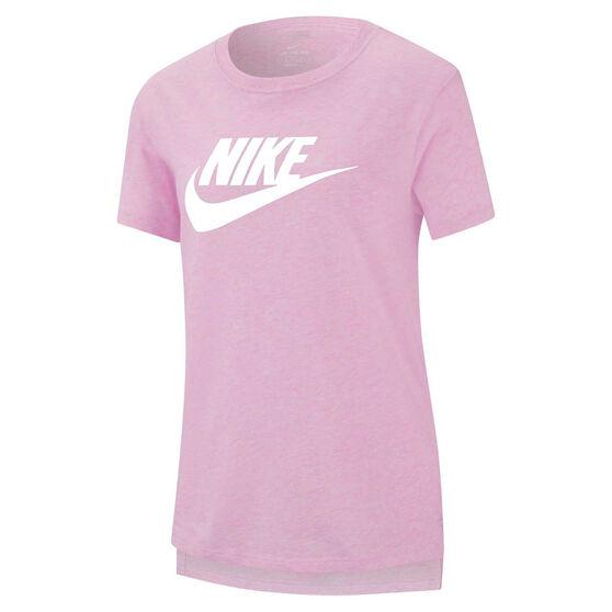 Nike Girls Sportswear Futura Tee, Pink/White, rebel_hi-res