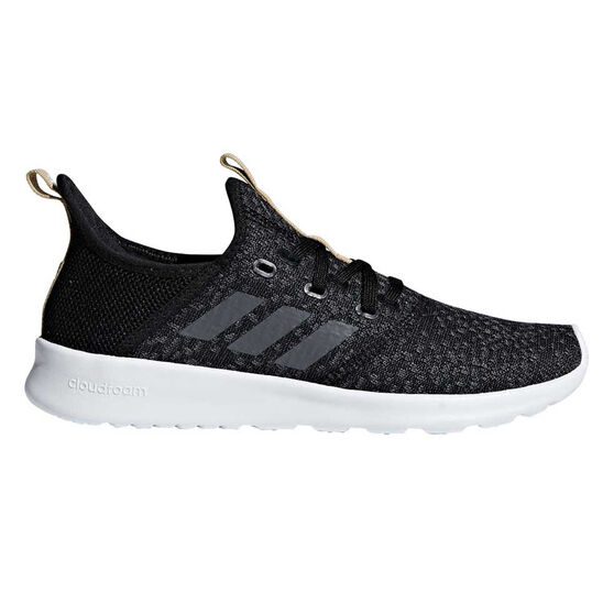 adidas Cloudfoam Pure Womens Casual Shoes, Black / Grey, rebel_hi-res
