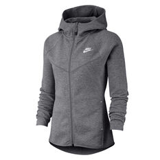 Nike Womens Sportswear Windrunner Tech Fleece Full Zip Hoodie Grey XS, Grey, rebel_hi-res