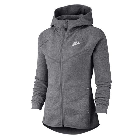 Nike Womens Sportswear Windrunner Tech Fleece Full Zip Hoodie, Grey, rebel_hi-res