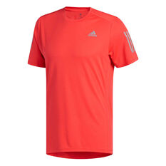 adidas Mens Own the Run Tee Red S cb8f9f374be