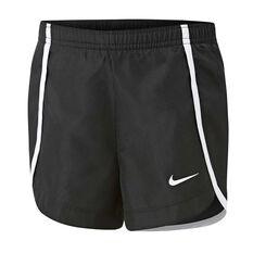 Nike Girls Sprinter Shorts Black / White 4, Black / White, rebel_hi-res