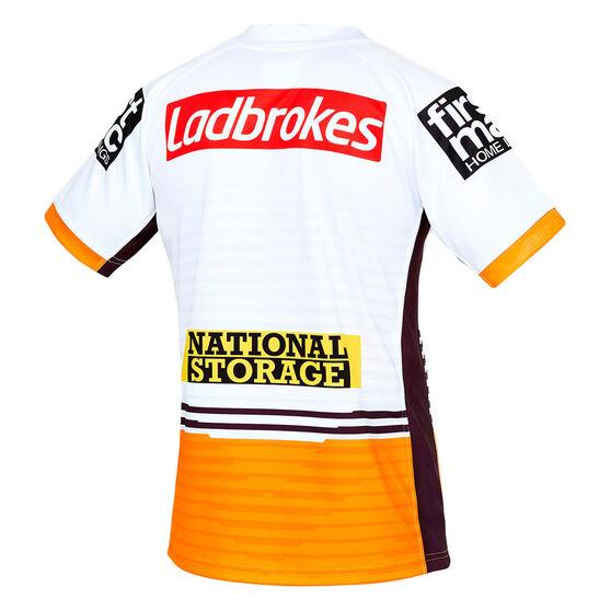 Brisbane Broncos 2021 Mens Away Jersey, White, rebel_hi-res
