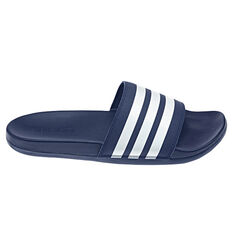 adidas Adilette Comfort Womens Slides Blue/White US 6, Blue/White, rebel_hi-res