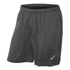 Asics Mens Silver 7in Shorts Grey S, Grey, rebel_hi-res