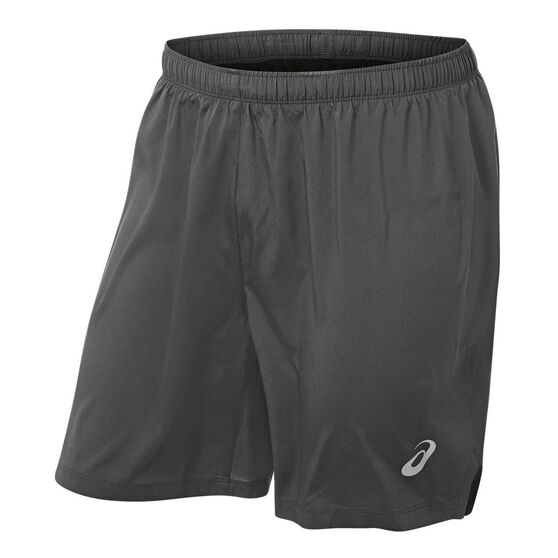 Asics Mens Silver 7in Shorts Grey S, Grey, rebel_hi-res