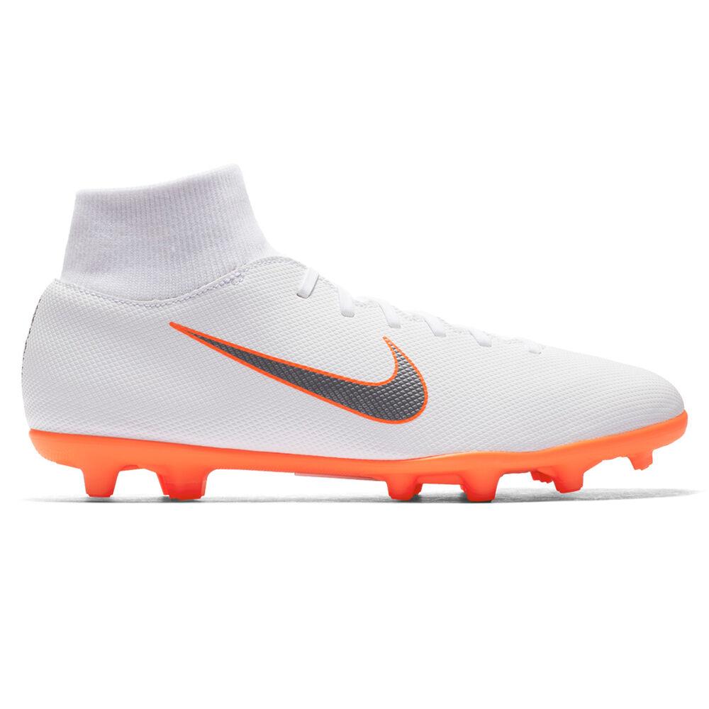 4b84bf7321d Nike Superfly VI Club MG Mens Football Boots White   Grey US 7 ...