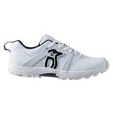 Kookaburra Pro 2000 Kids Rubber Cricket Shoes White US 3, White, rebel_hi-res