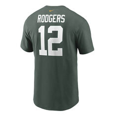 Green Bay Packers Aaron Rodgers 2020 Mens Essential Tee Green S, Green, rebel_hi-res