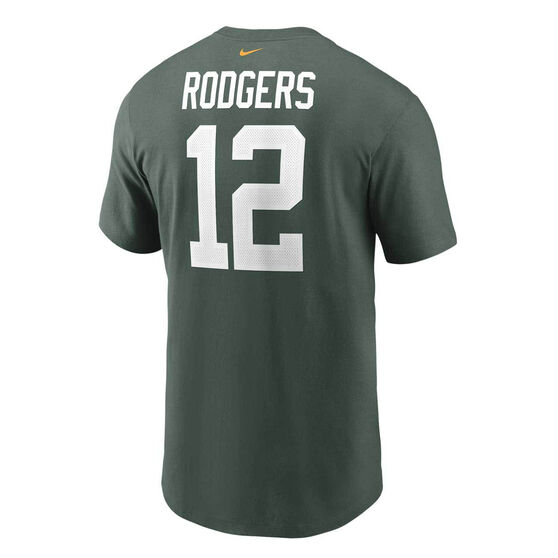 Green Bay Packers Aaron Rodgers 2020 Mens Essential Tee Green S, Green, rebel_hi-res