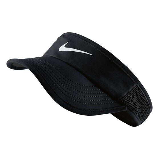 014f4318aa856 Nike Womens Featherlight Visor Black S   M Adult