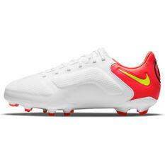 Nike Tiempo Legend 9 Pro Kids Football Boots White/Yellow US 4, White/Yellow, rebel_hi-res