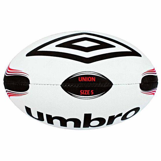 Umbro Rugby Union Ball Black / White 5, , rebel_hi-res