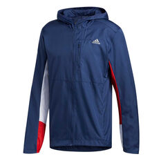 adidas Mens Own the Run Wind Jacket Blue S, Blue, rebel_hi-res