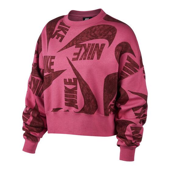 Nike Womens Icon Clash Fleece Sweatshirt, , rebel_hi-res