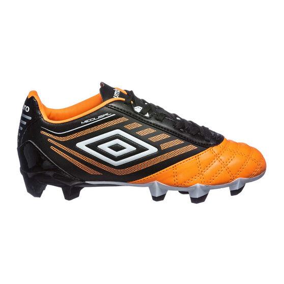 Umbro Medusae Club Junior Football Boots, Orange / White, rebel_hi-res