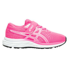 Asics GEL Excite 7 Kids Running Shoes Pink / White US 11, Pink / White, rebel_hi-res