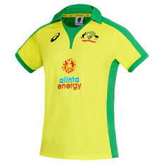 Cricket Australia 2020/21 Mens ODI Replica Shirt Yellow S, Yellow, rebel_hi-res