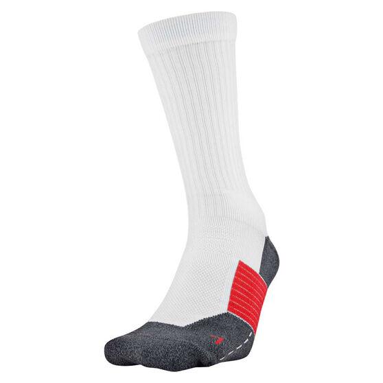Under Armour ArmourGrip Crew Socks, White/Black, rebel_hi-res