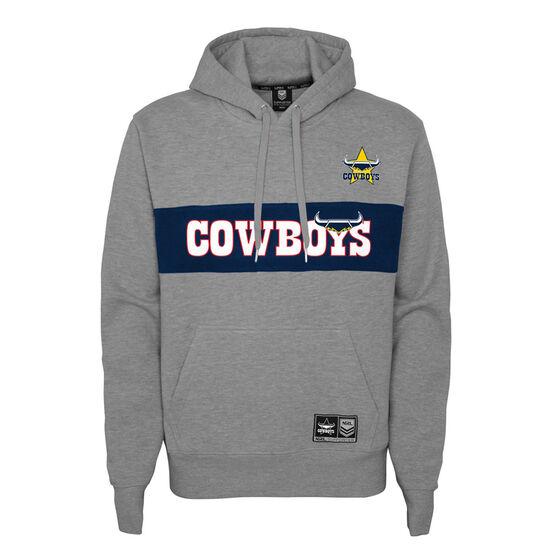 North Queensland Cowboys 2021 Kids Hoodie, Grey, rebel_hi-res