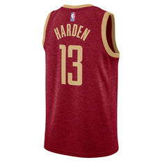 Nike Houston Rockets James Harden 2019 Mens City Jersey Red S, Red, rebel_hi-res