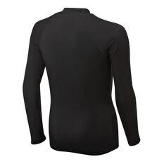 Quiksilver Boys Heater Long Sleeve Rash Vest Black XS, Black, rebel_hi-res
