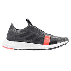 adidas Senseboost Go Kids Running Shoes Grey / White US 4, Grey / White, rebel_hi-res