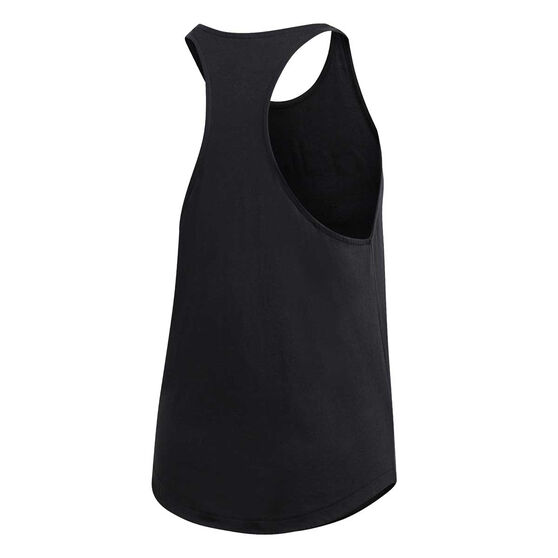 adidas Womens Essentials Linear Loose Tank, Black / White, rebel_hi-res