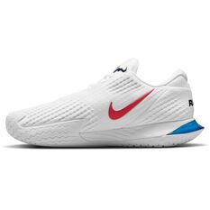 Nike Air Zoom Vapor Cage 4 RAFA Mens Tennis Shoes White/Red US 7, White/Red, rebel_hi-res