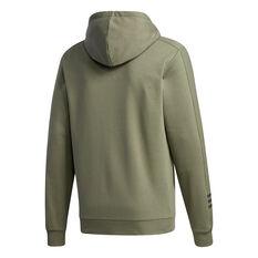 adidas Mens Essentials Comfort Hoodie Green XS, Green, rebel_hi-res