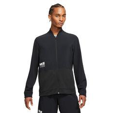 Nike Mens Dri-Fit Full Zip Training Jacket Black S, Black, rebel_hi-res
