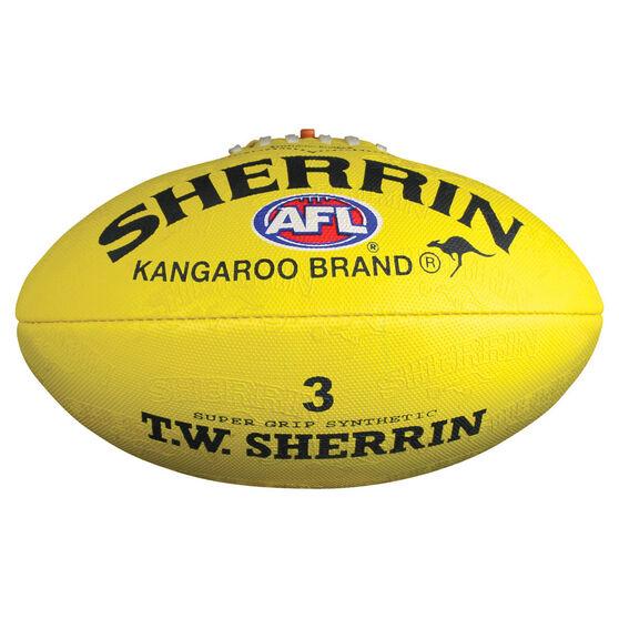 Sherrin Synthetic Australian Rules Ball, Yellow, rebel_hi-res