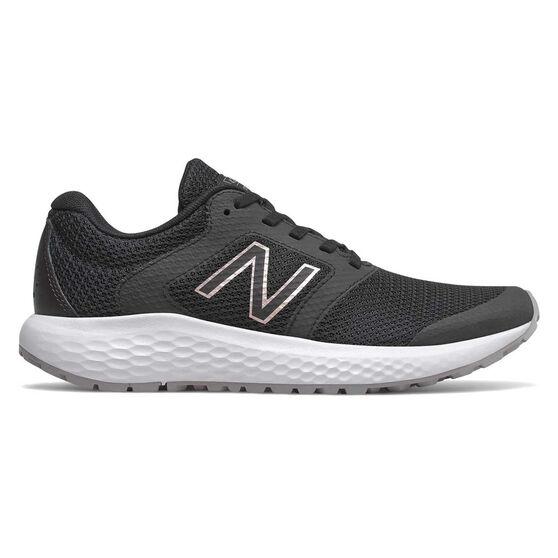 New Balance 420 D Womens Skateboarding Shoes, Black / White, rebel_hi-res