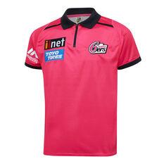 Sydney Sixers 2019/20 Mens Media Polo Magenta S, Magenta, rebel_hi-res