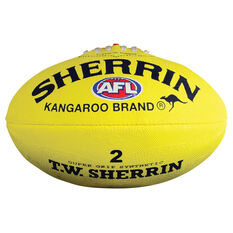 Sherrin Synthetic Australian Rules Ball Yellow 2, , rebel_hi-res