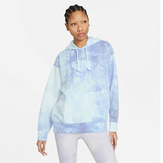 Nike Womens Icon Clash Pullover Hoodie Blue XS, Blue, rebel_hi-res