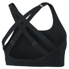 Nike Womens Impact Strappy Sports Bra Black XS, Black, rebel_hi-res