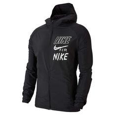 Nike Mens Essential Hooded Running Jacket Black S, Black, rebel_hi-res