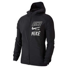 Nike Mens Essential Hooded Running Jacket Black S, Black, rebel_hi-res